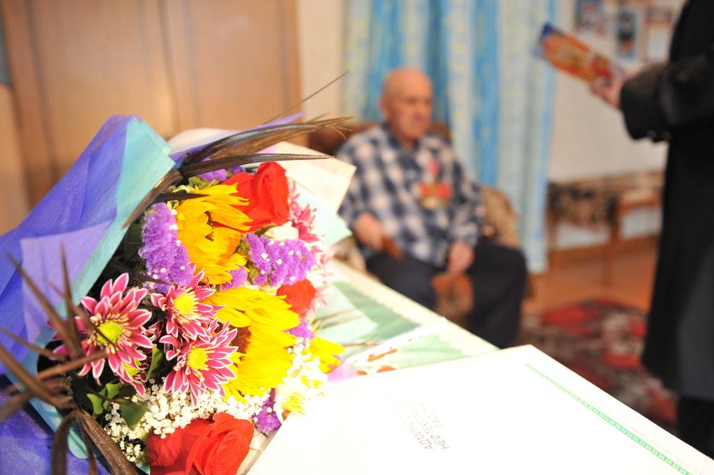 Поздравление ветерана ВОВ
